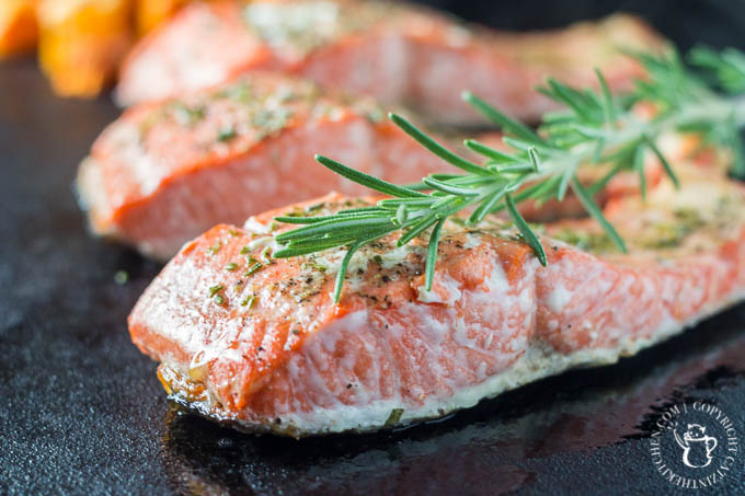 Broiled Rosemary Salmon - Catz in the Kitchen