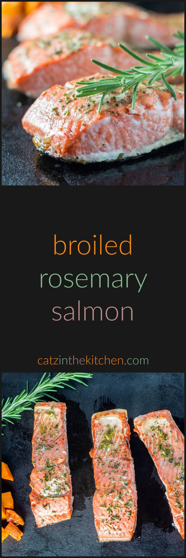 Broiled Rosemary Salmon   Catz in the Kitchen   catzinthekitchen.com ...