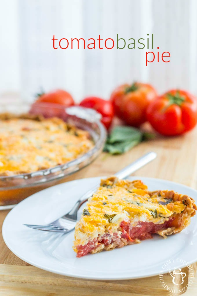 Fresh, a little rustic, and oh-so-tasty, this Tomato Basil Pie recipe is just the dish to showcase those tomatoes bursting out of your garden this fall!