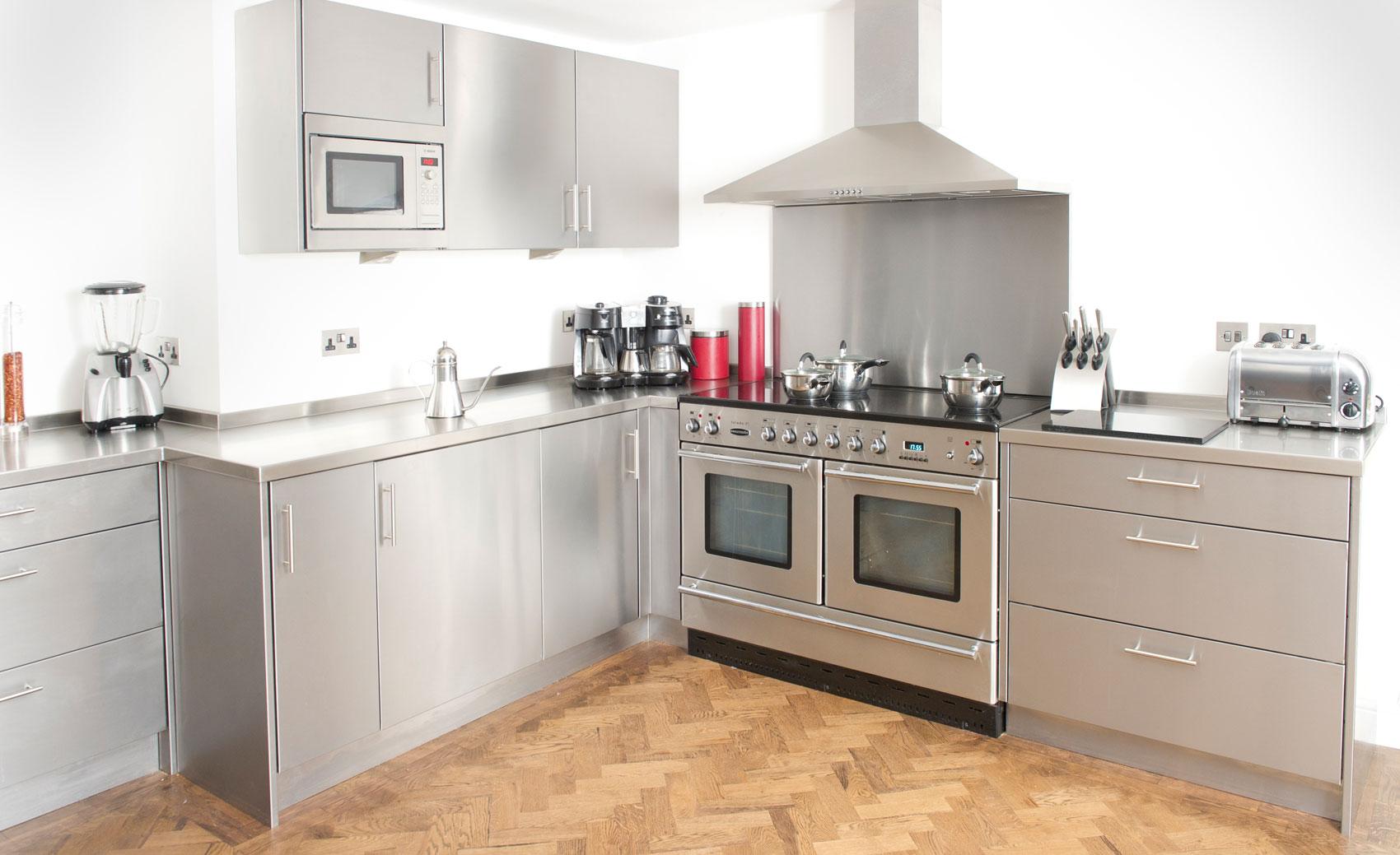 Stainless steel kitchen work surfaces -  Stainless Steel Kitchen Cabinet Worktops Splash Backs Uk Cavendish Equipment Download