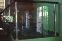Modern Glass Stair Railing   Cavitetrail, Glass Railings ...