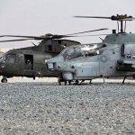 Merlins e Cobras operando juntos no Afeganistão