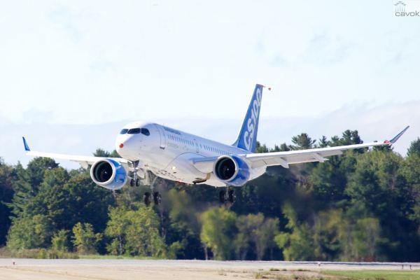 O primeiro C-Series de testes de voo realizou no dia 16 seu voo inaugural. (Foto: Bombardier)