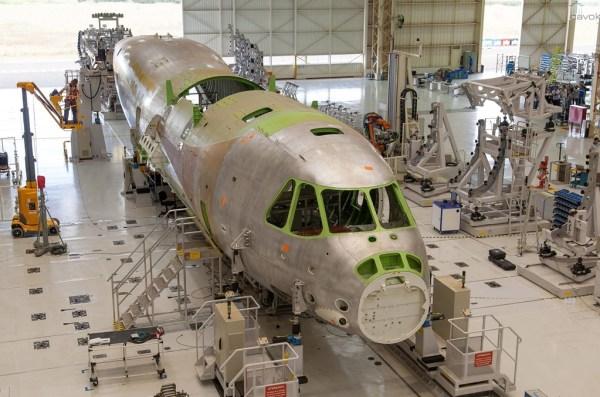 Un tercer prototipo ya está en la fase de montaje en Hawk Peixoto. (Foto: Sargento Batista / Fuerza Aérea Agencia.)