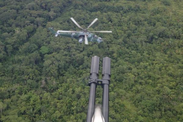 Um helicóptero AH-2 Sabre do Esquadrão Poti. (Foto: Agência Força Aérea)