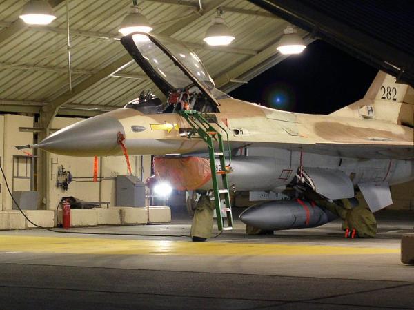 Um caça F-16A Netz Block 10 da Força Aérea de Israel. (Foto: IADF)