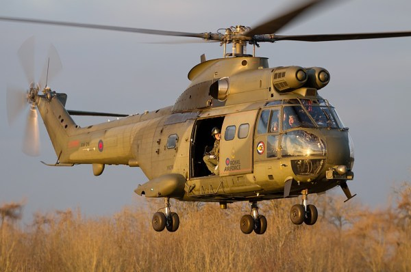 Aerospatiale (Westland) SA-330E Puma HC2 aircraft, by Rick Ingham