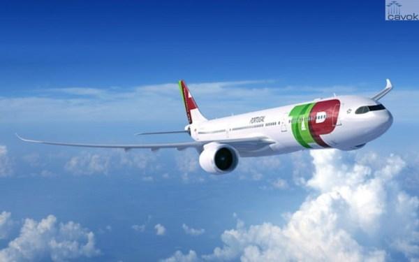 Concepção artística de uma aeronave Airbus A330-900neo nas cores da TAP Portugal. (Foto: Fixion / Airbus)