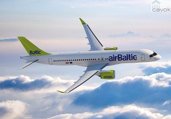 A primeira cliente do CS300 será a airBaltic. (Foto: Bombardier)