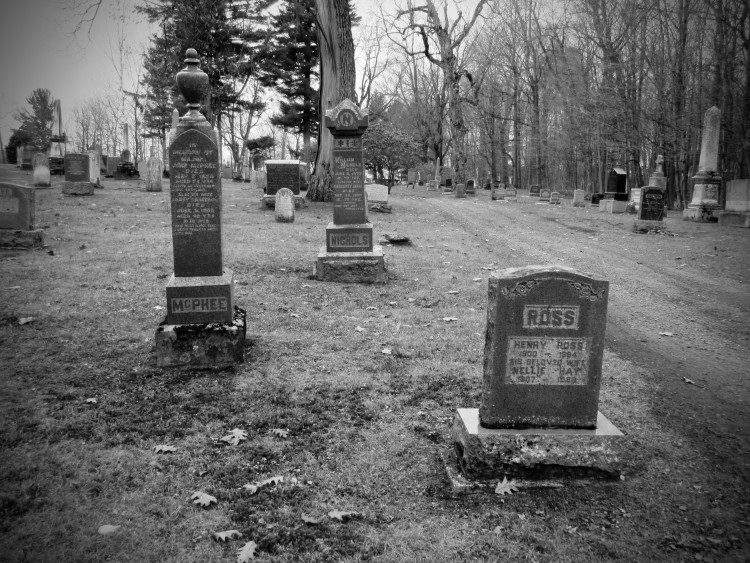Ross, McPhee, and Nichols - Headstone at a cemetery in Southern Quebec