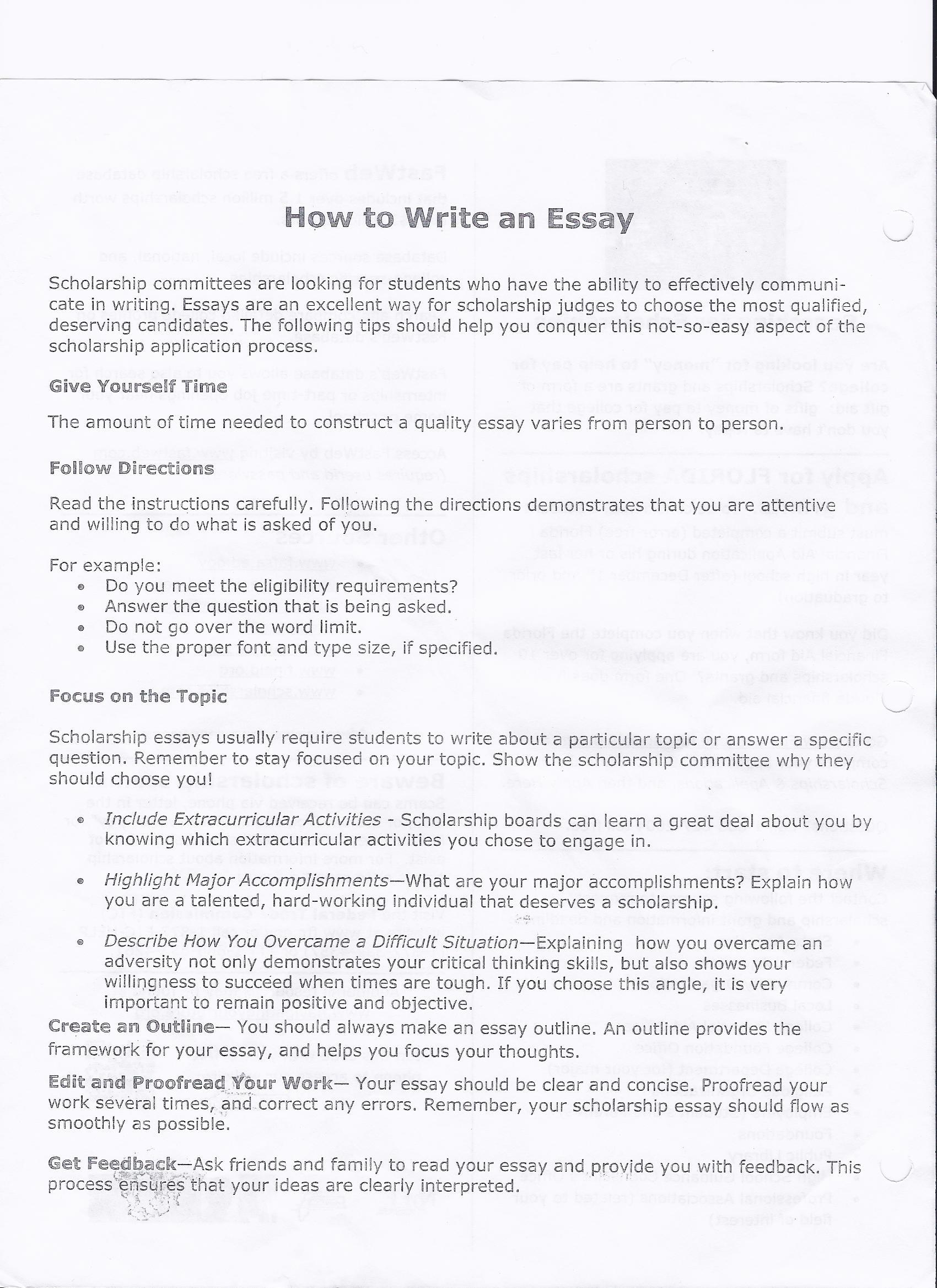 Films And Society Essays For Scholarships