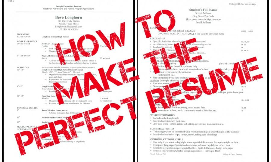 How to Build the Perfect Resume \u2013 CavsConnect
