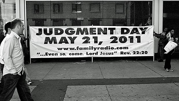A banner displayed at the Eaton Centre in Toronto predicts that Judgment Day will occur on May 21, 2011. (Courtesy Brian Cameron/Flickr.com)
