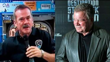 When Canadian Astronaut Chris Hadfield (left) was asked by actor William Shatner if he was tweeting from space, his response was, Yes, Standard Orbit, Captain. And we're detecting signs of life on the surface.