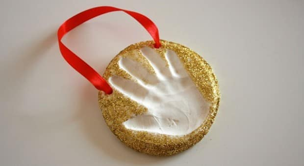 Keepsake Craft Baking Soda Clay Handprint Ornaments