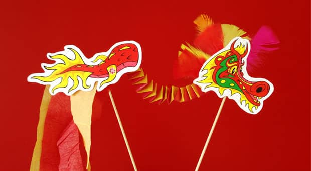 Printable Dragon Craft for Lunar New Year Play CBC Parents