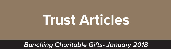 Bunching Charitable Gifts