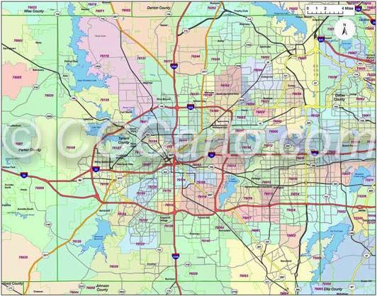 Fort Worth Tx Zip Codes Tarrant County Zip Code