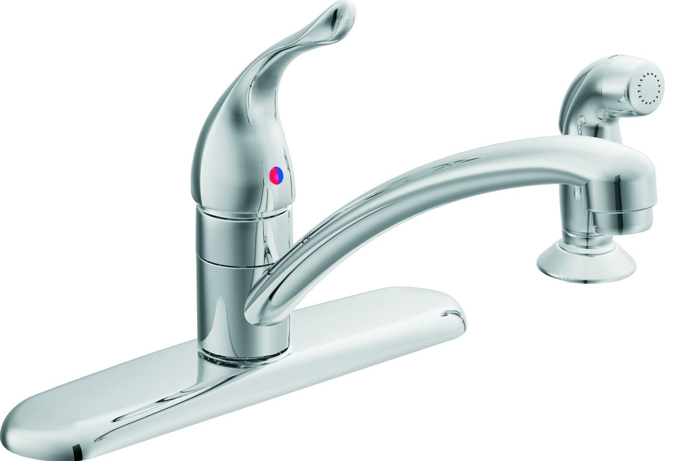 index jsp path find&ID 2CPlumbing 2CFaucets 2CKitchens 2CSingle single handle kitchen faucet MOEN CHATEAU KITCHEN SINK FAUCET w SPRAY 4 HOLE SINK CHROME
