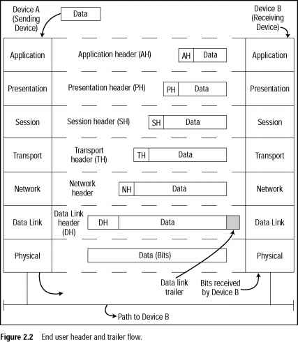 How Data Flows through the OSI Layers - Distance Vector