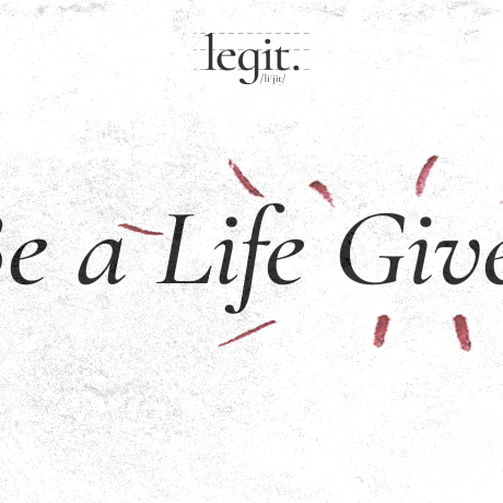 Be a Life Giver