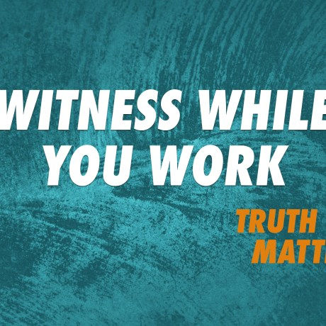 Witness While You Work