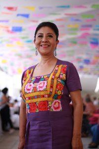 """Celia Frolián, Cocinera tradicional y propietaria del Restaurante """"Las Quince Letras"""" de Oaxaca."""