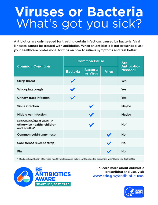 What got me sick? Was it a virus or bacteria?
