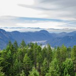 Typical BC scene, forests, mountains and lakes