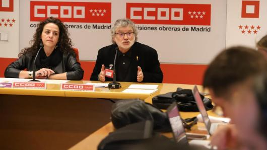 Rueda de prensa de Fernando Lezcano y Elena Blasco