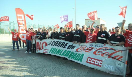 CCOO apoya a la plantilla de CocaCola de Fuenlabrada
