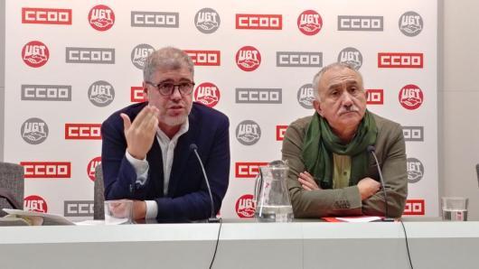 Rueda de prensa de Unai Sordo y Pepe Álvarez