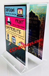 Double Sign Acrylic Sign Holder - Holds two 4 X 6 Signs