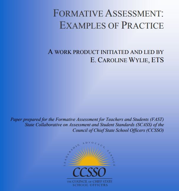 Formative Assessment Examples of Practice CCSSO