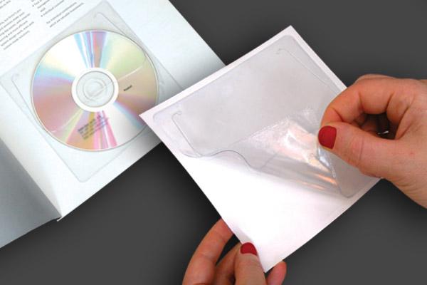 Self Adhesive Plastic PVC CD-DVD Sleeve