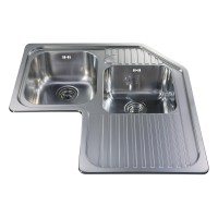 CCP3SS - Stainless steel corner double bowl sink | CDA ...