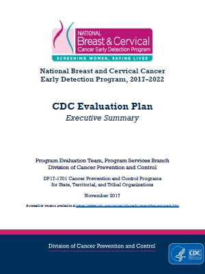 CDC - Evaluation Plan Executive Summary - NBCCEDP - Cancer
