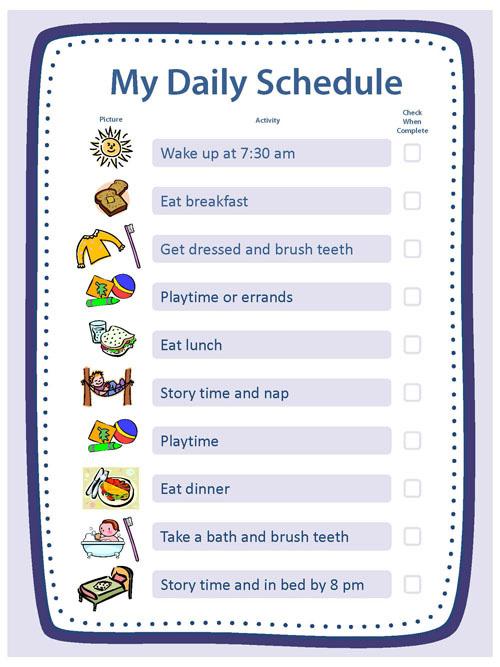 kids daily schedule template - Onwebioinnovate
