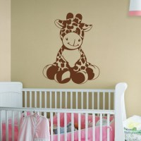 Giraffe Sudden Shadows Giant Wall Decal