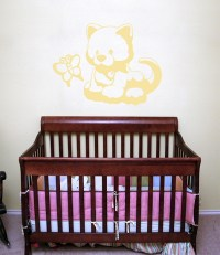 Kitten Sudden Shadows Giant Wall Decal