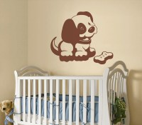 Puppy Sudden Shadows Giant Wall Decal