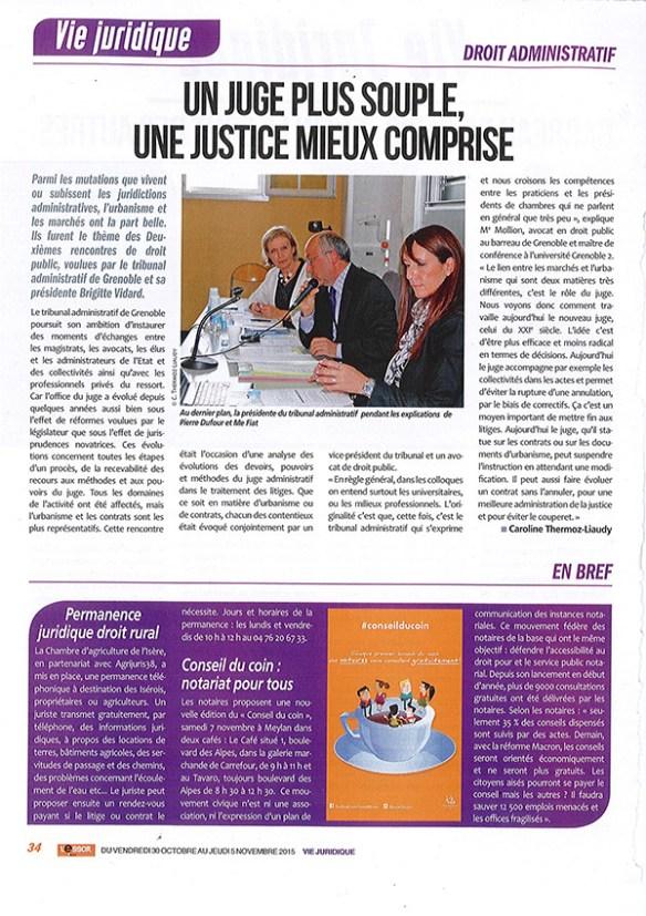ARTICLE VIE JURIDIQUE-12 Novembre 2015