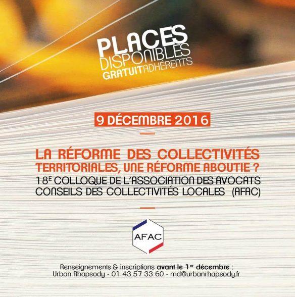 AFAC COLLOQUE 9 DECEMBRE