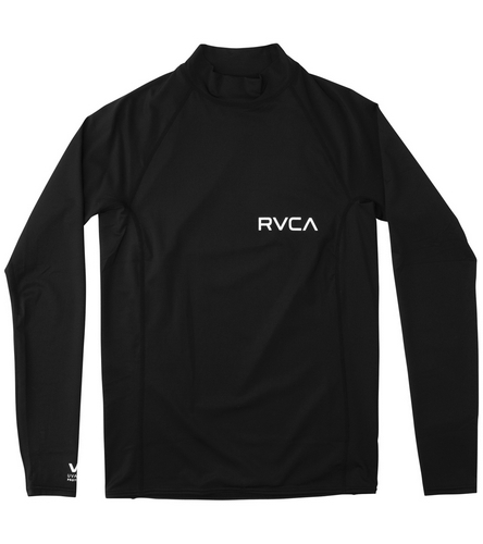 RVCA Men\u0027s Solid RG Long Sleeve Rashguard at SwimOutlet