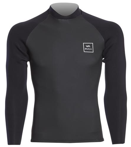 RVCA Men\u0027s 2mm Neoprene Back Zip Wetsuit Jacket at SwimOutlet