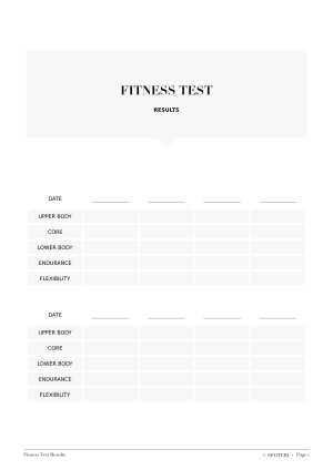 Ideal Body Weight Printable Fitness Tracker