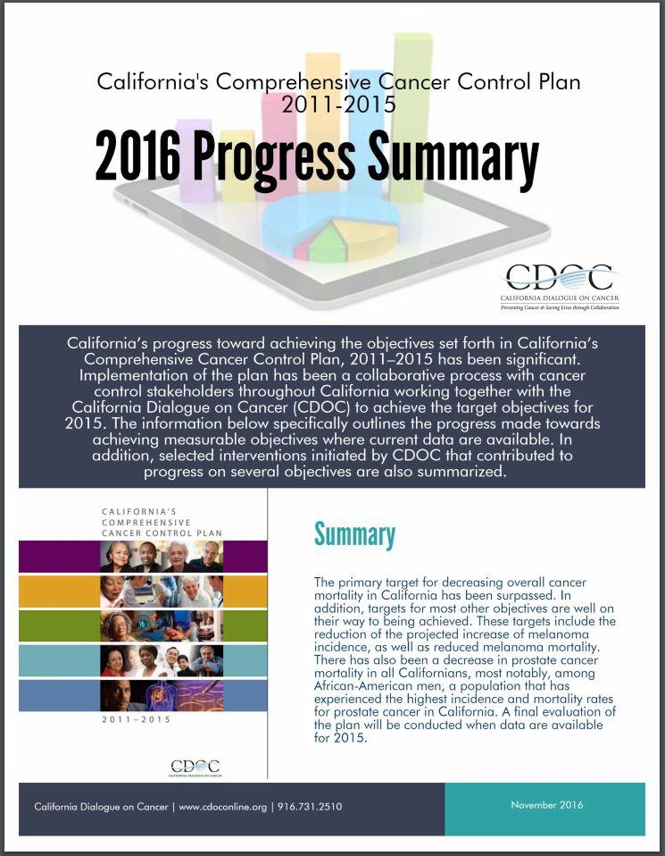 California\u0027s Comprehensive Cancer Control Plan - control plan