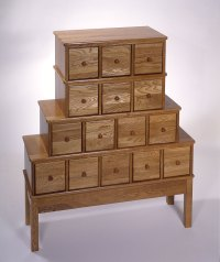 Distinctive Apothecary Style Storage Cabinet