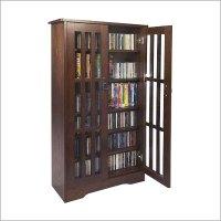 Mission Style Multimedia Storage Cabinet - Leslie Dame ...