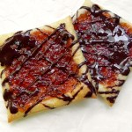 Easy Puff Pastry Jam Tarts for Two from Ceara's Kitchen #vegan #valentinesday